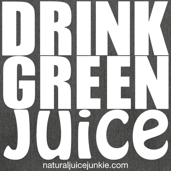 Drink Green Juice Recycled Shoulder Bag