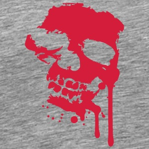 Blood drops splatter skull skull T-Shirts - Men's Premium T-Shirt
