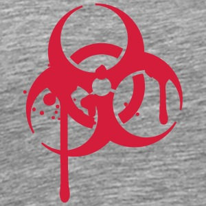 Biohazard blood logo symbol splashes T-Shirts - Men's Premium T-Shirt