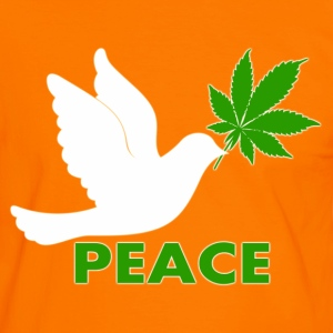 Colombe Cannabis peace - T-shirt contraste Homme