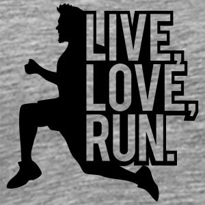 Saying sports man live love run T-Shirts - Men's Premium T-Shirt