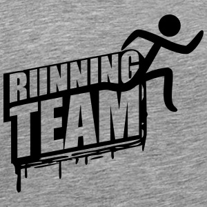Running Team runners group crew graffiti T-Shirts - Men's Premium T-Shirt