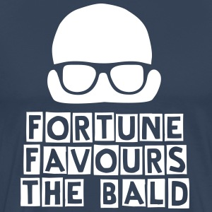 Fortune Favours the Bald - Men's Premium T-Shirt