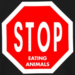 STOP Eating Animals - Männer T-Shirt