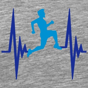 Heartbeat pulse frequency man race T-Shirts - Men's Premium T-Shirt