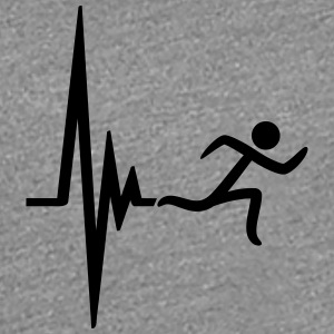 Heartbeat puls frequentie pictogram race T-shirts - Vrouwen Premium T-shirt
