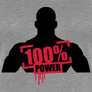 100% power muskler bodybuilder skarp T-shirts - Premium-T-shirt dam