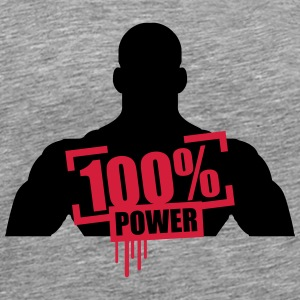 100% power muskler bodybuilder skarp T-shirts - Premium-T-shirt herr