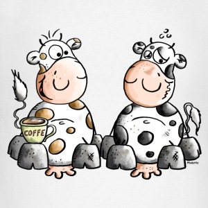 Funny Cows - Coffee Long sleeve shirts - Men's Long Sleeve Baseball T-Shirt
