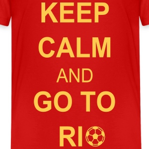 Keep calm and go to rio Shirts - Teenager Premium T-shirt