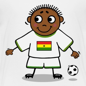 Football player - Ghana flag Shirts - Teenage Premium T-Shirt