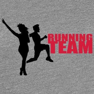 Running Team man woman of couple group T-Shirts - Women's Premium T-Shirt