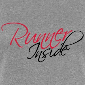 Runner Inside Text Logo T-Shirts - Women's Premium T-Shirt