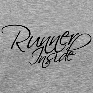 Runner Inside Text Logo T-Shirts - Men's Premium T-Shirt