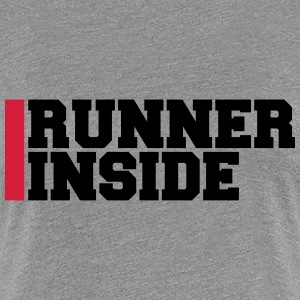 Runner Inside Logo Design T-Shirts - Frauen Premium T-Shirt