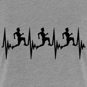 Heartbeat puls frequentie team race T-shirts - Vrouwen Premium T-shirt
