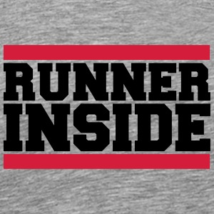 Cool Runner Inside Logo Design T-Shirts - Men's Premium T-Shirt