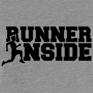 Cool Design Runner Inside Logo T-Shirts - Women's Premium T-Shirt