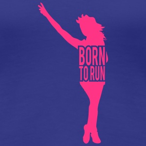 Born to run woman girl Jogger winner T-Shirts - Women's Premium T-Shirt