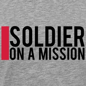 Soldier on a Mission logo Design T-Shirts - Men's Premium T-Shirt
