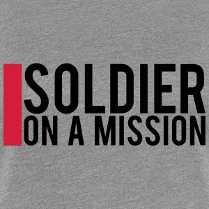 Soldier on a Mission logo Design T-Shirts - Women's Premium T-Shirt