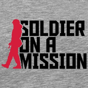 Soldier on a Mission Cool Design logo T-Shirts - Men's Premium T-Shirt