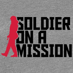 Soldier on a Mission Cool Design logo T-Shirts - Women's Premium T-Shirt