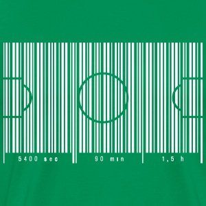 Football field as barcode 90 min T-Shirts - Men's Premium T-Shirt