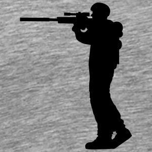 Soldier sniper war shooting shooter T-Shirts - Men's Premium T-Shirt