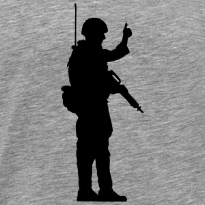 Soldier OK hand sign thumbs up T-Shirts - Men's Premium T-Shirt