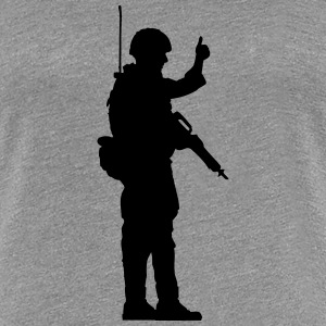 Soldier OK hand sign thumbs up T-Shirts - Women's Premium T-Shirt