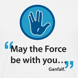 May the force be with you gandalf, Spock - T-shirt Homme
