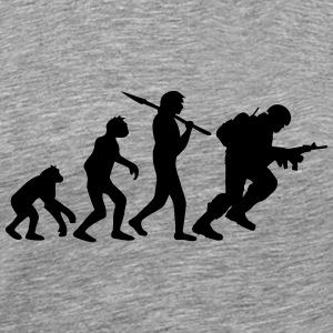 Soldier evolution monkey Warrior T-Shirts - Men's Premium T-Shirt