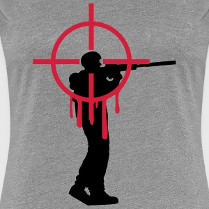 Headshot shooter sniper shoot bleed T-Shirts - Women's Premium T-Shirt