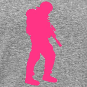 Girl soldier woman girl pink T-Shirts - Men's Premium T-Shirt