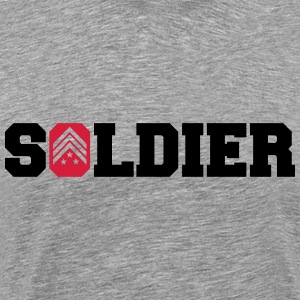General Sergant Soldier Logo Design T-Shirts - Men's Premium T-Shirt