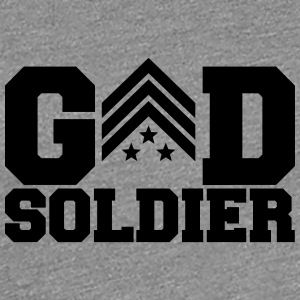 General Sergant God Soldier Logo Design T-Shirts - Frauen Premium T-Shirt