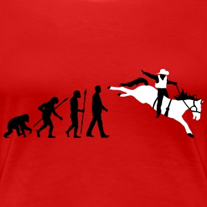 evolution_rodeo_062014_2c T-Shirts - Frauen Premium T-Shirt