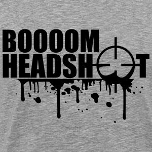 Boom Headshot Sniper Killer Blood Logo T-Shirts - Men's Premium T-Shirt