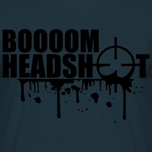 Boom Headshot Sniper Killer Blood Logo T-Shirts - Männer T-Shirt