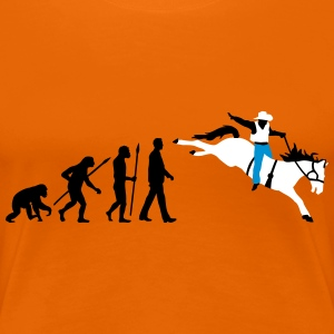 evolution_rodeo_062014_3c T-Shirts - Frauen Premium T-Shirt