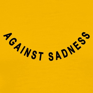 against sadness (smiley) - Herre premium T-shirt