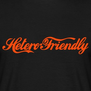 hetero friendly - T-skjorte for menn