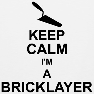 keep_calm_im_a_bricklayer_g1 Tank Tops - Männer Premium Tank Top