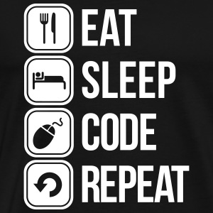 eat sleep code T-shirts - Mannen Premium T-shirt