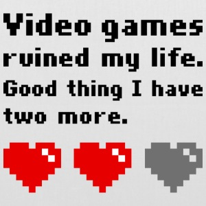 Video games ruined my life Tote Bag - Stoffbeutel