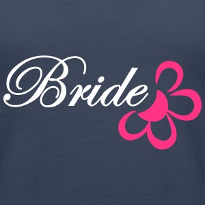 bride with flower Tops - Women's Premium Tank Top