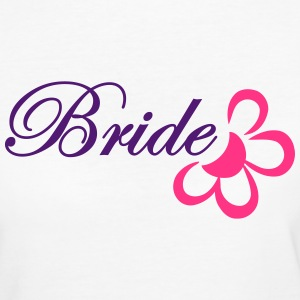 bride with flower T-shirts - Vrouwen Bio-T-shirt