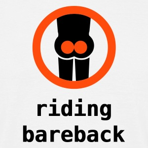 riding bareback - T-shirt Homme