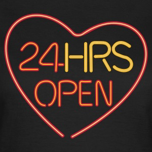 Neon: 24 HRS open heart - T-shirt dam